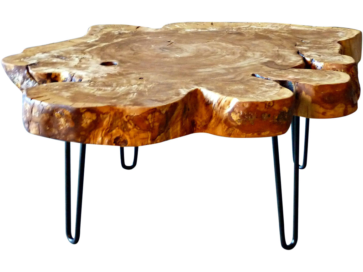 - Olive Live Edge Coffee Table