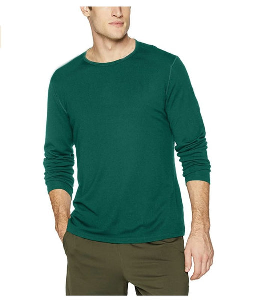 2020 Mens 100% Merino Wool T Shirt Long Sleeve Men's Base Layer Men Merino Wool Shirt Wicking Breathable Anti-Odor Size S-XXL