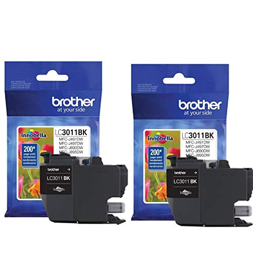 Brother LC3011BK Black Ink-2 Pack