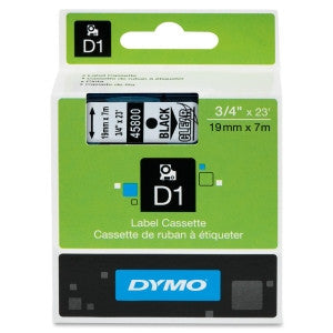 Dymo (45800) Black on Clear D1 Label Tape