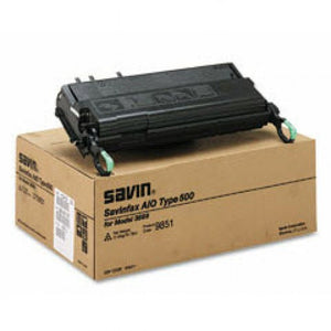 Savin 9851 Type 500 Original Black Toner Cartridge