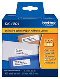 Genuine Brother DK-1201 Standard Address White Die-Cut Paper Label (400 Labels/Pkg) (5 Pack)