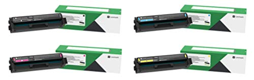 Lexmark C331HC0, C331HK0, C331HM0, C331HY0 CMYK 4-Color High Yield Return Program Toner Cartridge Set for C3326dw, MC3326adwe