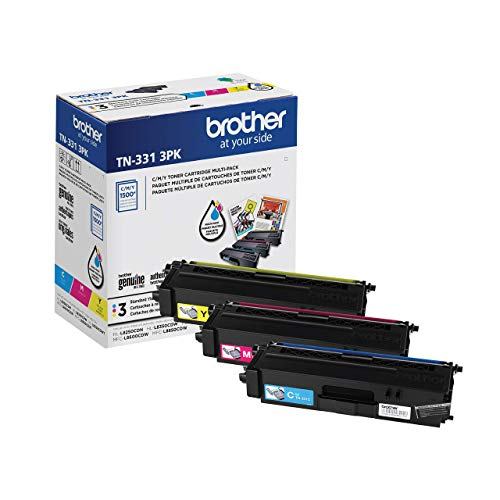 Brother TN331 Standard-Yield Color Toner (3) Pack TN3313PK