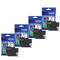 Brother LC3013 BK/C/M/Y High Yield Ink Cartridge Set (400 Yield)