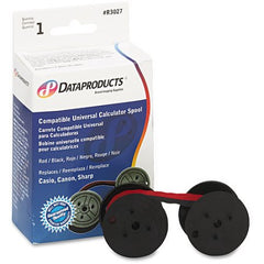 Dataproducts R3027 Red/Black Ribbon for Universal Calculator Spool C-Wind, 6-pack