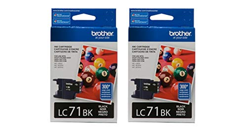 Brother LC71BK Ink Cartridge (Black, 2-Pack)