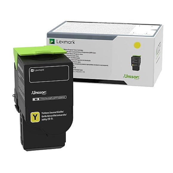 Lexmark 78C0U40 Ultra High Yield Yellow Toner Cartridge (7,000 Yield)