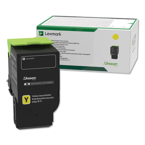 Lexmark 78C10Y0 Yellow Return Program Toner Cartridge (1,400 Yield)