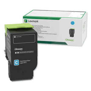 Lexmark 78C1XC0 Extra High Yield Cyan Return Program Toner Cartridge (5,000 Yield)