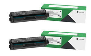 Lexmark C3210K0 Black Return Program Toner Cartridge 2-Pack for C3224, C3326, MC3224, MC3224, MC3326