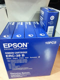 Genuine Epson ERC-38B Black Printer Ribbon Cartridges (10) pack