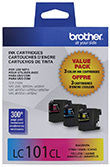 Brother LC1013PKS Original Cyan/Magenta/Yellow Ink Combo Pack