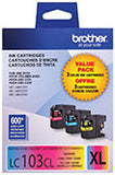 Brother LC1033PKS Original High Yield C/M/Y Ink Combo Pack