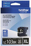 Brother LC103BK Original High Yield Black Ink Cartridge 600 Yield
