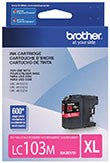 Brother LC103M Original Magenta High Yield Ink Cartridge 600 Yield
