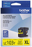 Brother LC103Y Original High Yield Yellow Ink Cartridge 600 Yield