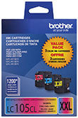 Brother LC1053PKS Original Super Yield C/M/Y Ink Combo Pack
