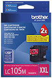 Brother LC105M Original Magenta Super High Yield Ink Cartridge