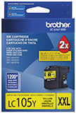 Brother LC105Y Original Yellow Super High Yield Ink Cartridge