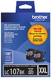 Brother LC1072PKS Original Black Super High Yield Ink Cartridge Dual Pack