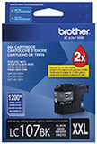Brother LC107BK Original Black Super High Yield Ink Cartridge