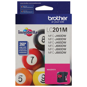 Brother LC201M Magenta Ink Cartridge (260 Yield)