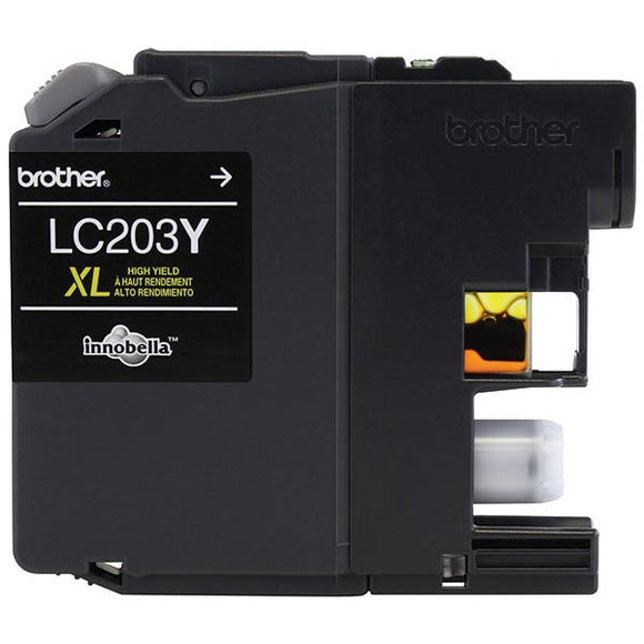 Brother LC203Y High Yield Yellow Ink Cartridge