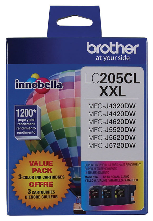 Brother LC2053PKS Super High Yield C/ M/ Y Ink Cartridge 3-Pack