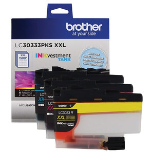 Brother LC30333PKS Super High Yield Cyan/ Magenta/ Yellow Ink Cartridge Multipack