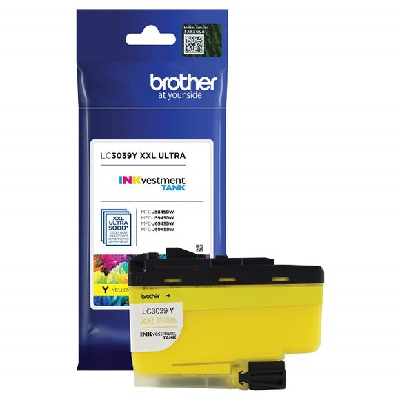 Brother LC3039Y Ultra High Yield Yellow Ink Cartridge (5,000 Yield)