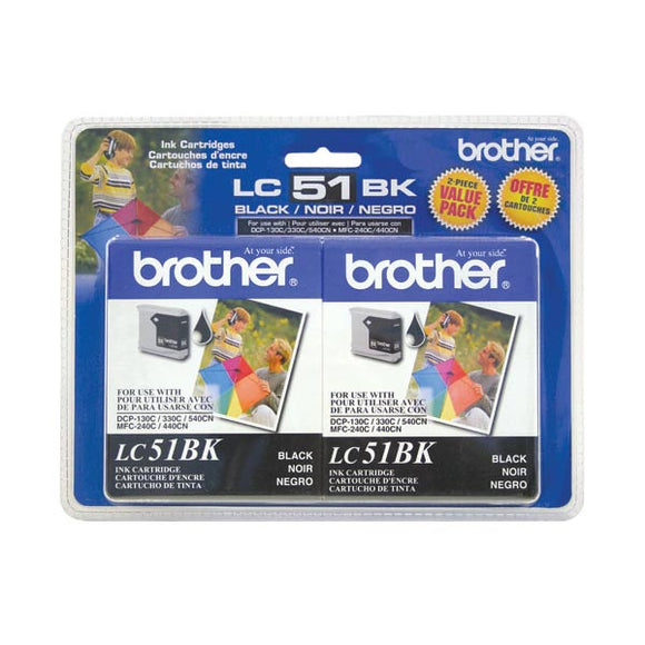 Brother LC512PKS Original Black Ink Twin Pack (2 x 500 Yield)