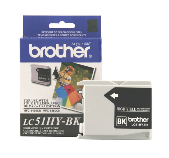 Brother LC51BK Original Black Ink Cartridge 500 Yield