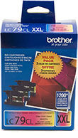 Brother LC793PKS Original C/M/Y Super High Yield Combo Pack (3 x 1,200 Yield)