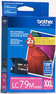 Brother LC79M Original Magenta Super High Yield Ink Cartridge (1,200 Yield)