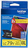 Brother LC79Y Original Yellow Super High Yield Ink Cartridge (1,200 Yield)