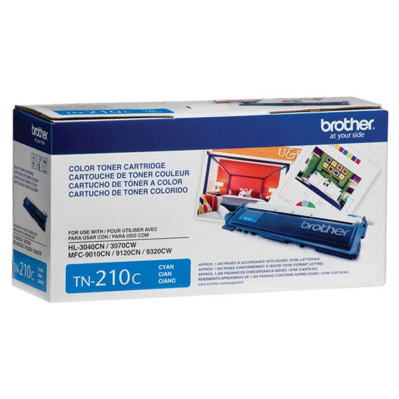 Brother TN210C Cyan Toner Cartridge (1,400 Yield)