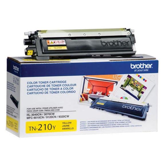 Brother TN210Y Yellow Toner Cartridge (1,400 Yield)