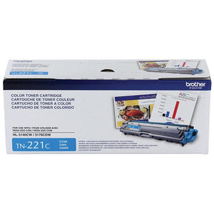 Brother TN221C Original Cyan Toner Cartridge 1,400 Yield