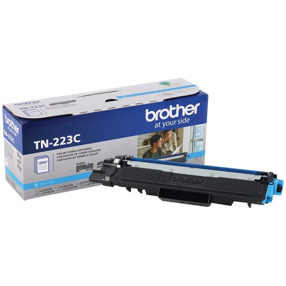 Brother TN223C Standard Yield Cyan Toner Cartridge (1,300 Yield)