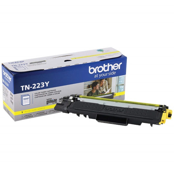 Brother TN223Y Standard Yield Yellow Toner Cartridge (1,300 Yield)