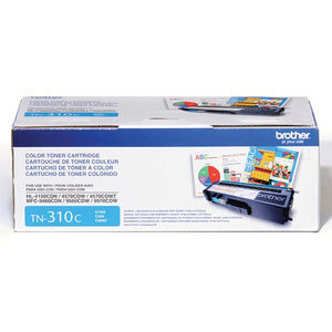 Brother TN310C Original Cyan Toner Cartridge 1,500 Yield