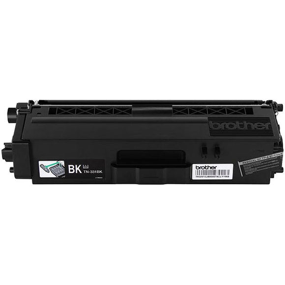 Brother TN331BK Original Black Toner Cartridge 2,500 Yield
