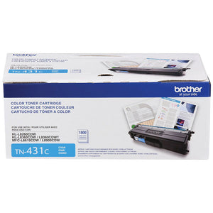 Brother TN431C Cyan Toner Cartridge (1,800 Yield)