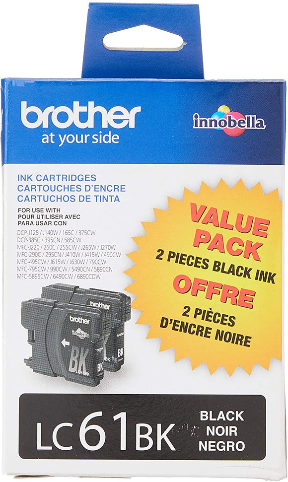 Brother LC612PKS Original Black Ink Cartridge Twin Pack (2 x 450 Yield)