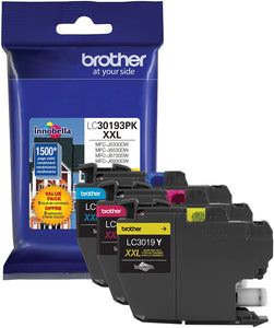 Brother LC30193PK Super High Yield C/ M/ Y Ink Cartridge Combo Pack (3 x 1,500 Yield)