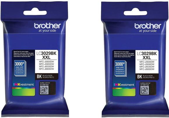 Brother LC3029BK Ultra High Yield Black Ink (2) Pack (2 x 3,000 Yield)