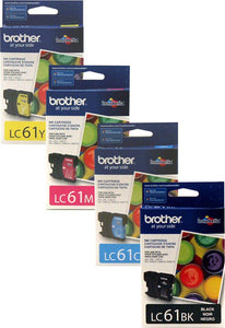 Brother LC61 Original BK,C,M,Y combo 4 pack