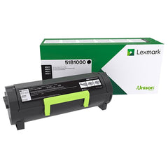 Lexmark 51B1000 Return Program Black Toner Cartridge (2,500 Yield)-2 pack
