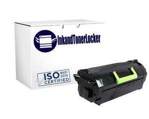 InkandTonerlocker T650H04A Compatible High Yield Toner Cartridge for Lexmark T650, X651, X652, X654 (25,000 Yield)